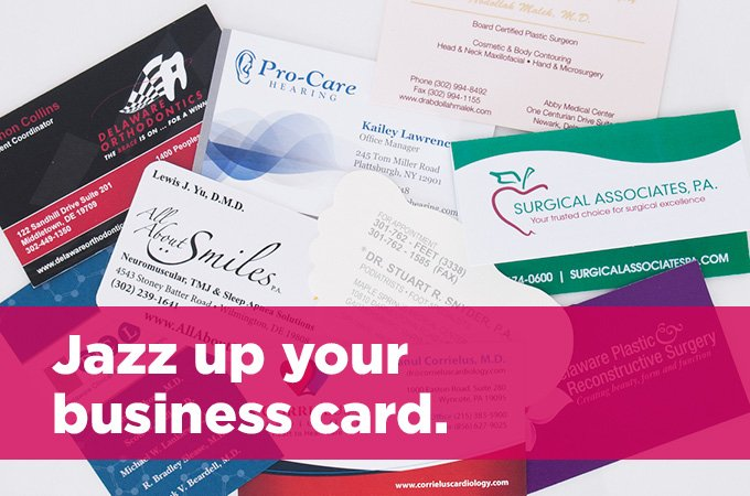 Jazz up your business card king medical jazz up your business card colourmoves
